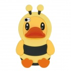 Cute Bee Duck Style Protective Silicone Back Case for Iphone 4 / 4S - Black