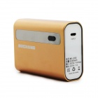 "BOCHANG AKMB066 4400mAh ""CALL"" Mobile Power Bank Charger for Iphone 4 / 4S / 5 + More - Golden"