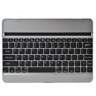 Rechargeable Wireless Bluetooth V3.0 82-Key Keyboard for Ipad AIR - Black + Silver
