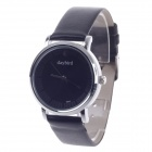 Daybird 3804 Fashionable PU Leather Wristband Women's Quartz Watch - Black + White