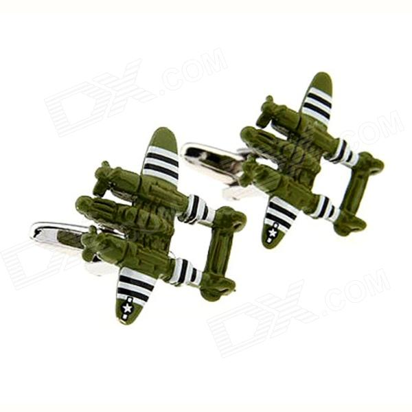 3D Model Of World War Ii Classic Double Helix Attack Cufflinks - Multicolor (Pairs)