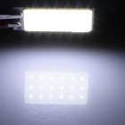 T10 / BA9S / Festoon 31 milímetros ~ 42 milímetros 1.5W 150lm 21 x COB LED Interior Dome Branco Car Light - (12V)