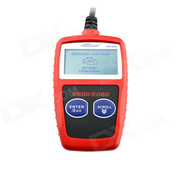 KW806 2.1 LCD CAN-BUS / OBDII Code Reader - Red