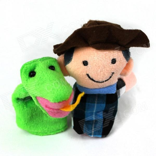 PUMAN Cute Farmer + Snake Puzzle Educational Toys Finger Sleeve - Multicolored