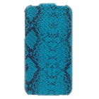 SAYOO 2370 Serpentine PU Leather Mobile Phone Protective Case for Iphone 4 / 4s - Blue