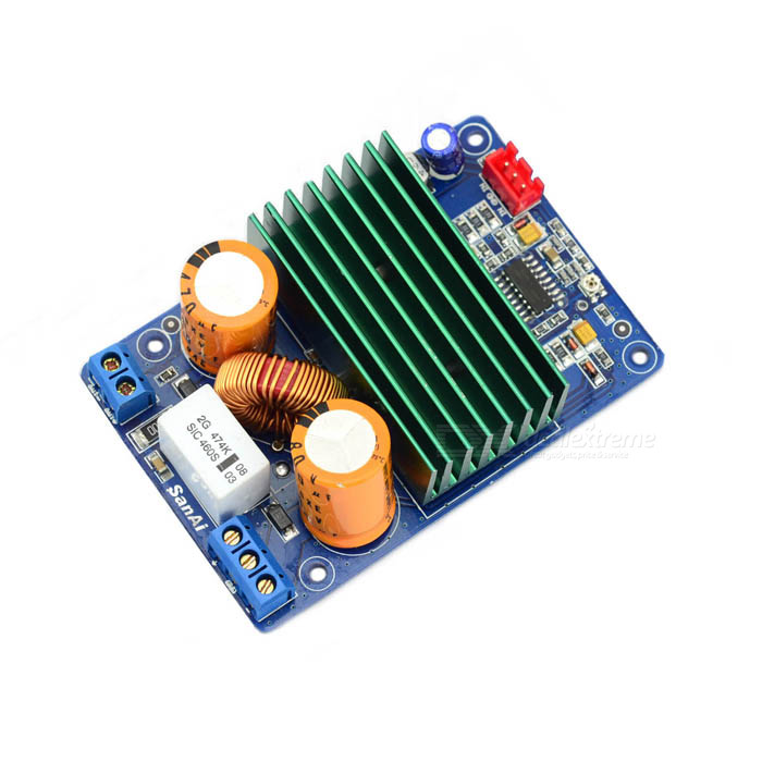 250W Mono High-Power Board Amplificador Digital - Azul (Dual DC ± 42 - ± 58V)