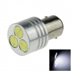 1157 / BAY15d 3W 100lm 3-LED White Light Car Ohjaus / Jarru / Tail / Backup Light - (12V)