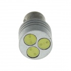 1157 / BAY15D 3W 100lm 3-LED White Light Car Steering / Brake / Tail / Backup Light - (12V)