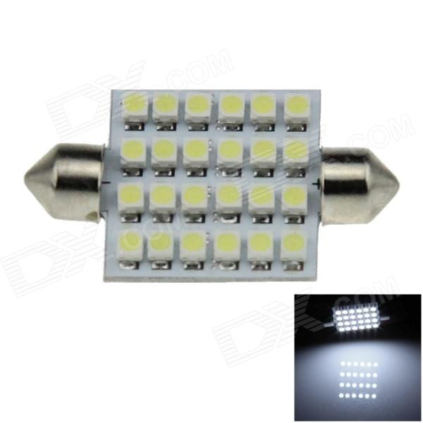 Festoon 41mm 3.5W 120lm 24 x SMD 3528 LED White Light Car Reading Lamp - (12V)