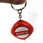 Simulation Ruler Get Electric Shock Keychain Tricky Props - Red + Silver