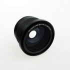 HighPro 58mm 0.42X Super Wide Angle Fish Eye Pro Digital AF Macro Lens - Black (UV 72mm)