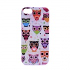 LOFTER Winter Sonata Owl Family Style Protective Back Case for Iphone 5S - Purple + White + Green