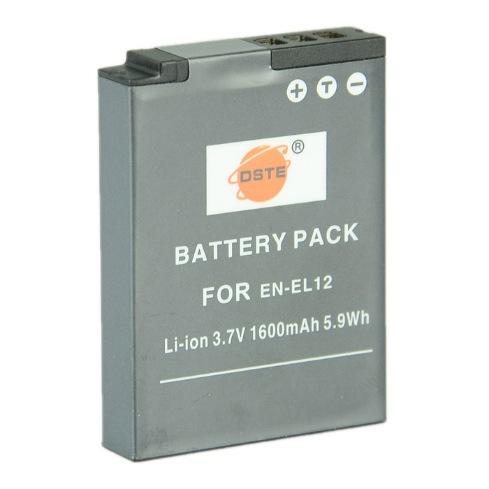 DSTE EN-EL12 Li-ion Battery for Nikon AW100s AW110s S6000 S620 S630 S9400 S9500 S8000 S8100 Camera