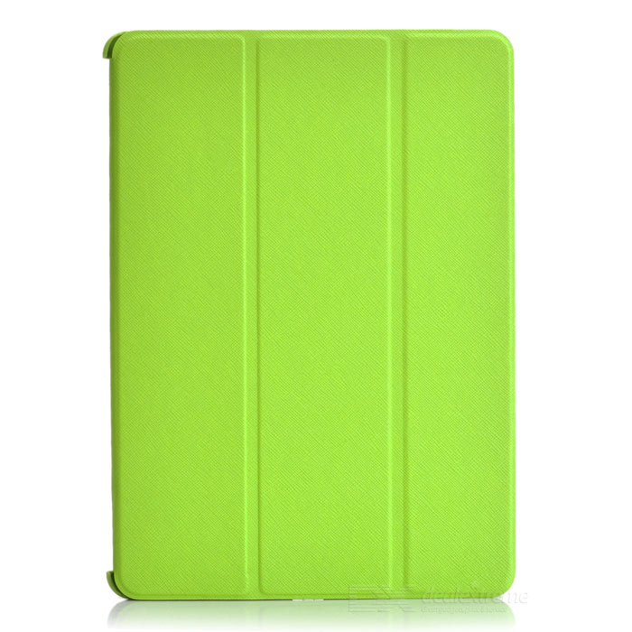 Cross Pattern Protective 4-Fold PU Leather + Plastic Case for Ipad AIR - Green catherine douillet national harmony and its discontents