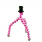 PANNOVO Universal Stand Holder Mini Octopus Tripod for GoPro Hero 2 / 3 / 3+ / SJ4000 - Pink + Grey