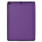 Cross Pattern Protective 4-Fold PU + Plastic Leather Case for Ipad AIR - Purple