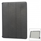 S-116 Fashion Flip Open Cover Protective PU Leather Case w/ Holder Function for Ipad 5 - Black