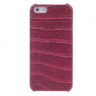 SAYOO 2213 Crocodile Striation PU Leather Mobile Phone Protective Back Case for Iphone 5 - Red