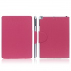 ENKAY ENK-3145 Protective PU Leather Smart Case w / Card Slot Stand for Ipad AIR / Ipad 5 -Deep Pink