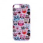 LOFTER Winter Sonata Happy Owl Style Protective Back Case for Iphone 5S - Purple + White