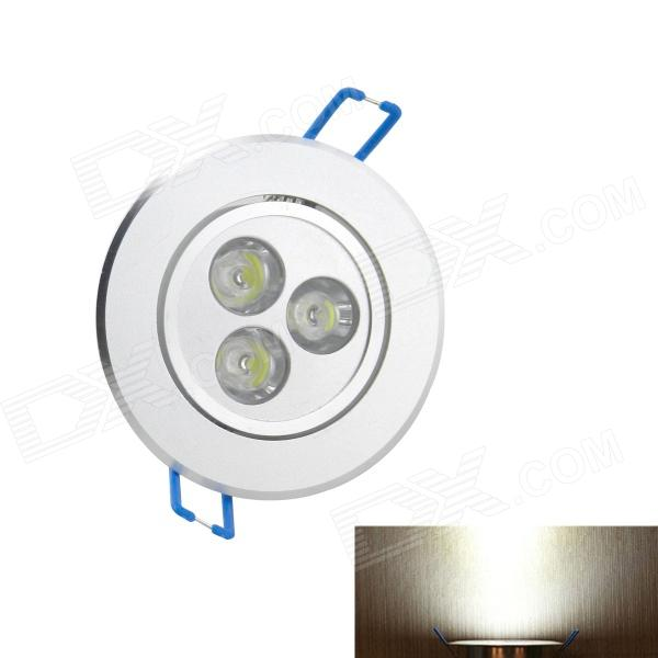 3W 250lm 6000K 3-LED White Light Ceiling Down Lamp - White (AC 85~265V)