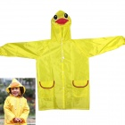 Duck Style Children Polyester Raincoat - Yellow