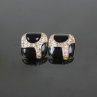Diamond Fashion Earrings - Black (2 PCS)