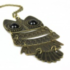 Retro Owl Zinc Alloy Necklace - Bronze