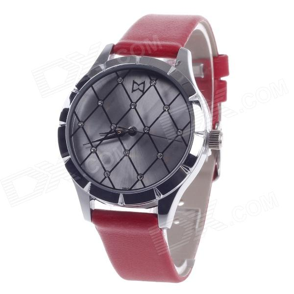 Daybird 3819 Fashionable Mesh Style Surface Women's Qaurtz Wrist Watch - Red + Silver