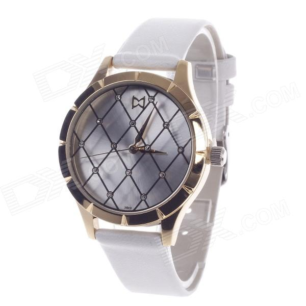 Daybird 3819 Fashionable Mesh Style Surface Women's Qaurtz Wrist Watch - White + Golden free shipping high quality brass floor drain anti odor anti water backing anti virus chrome plated surface diameter is 40mm