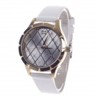 Daybird 3819 Fashionable Mesh Style Surface Women's Qaurtz Wrist Watch - White + Golden