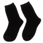 Enbl 9209 Elegant Pure Color Cotton Man's Socks - Black  (Pair / 24~27cm)