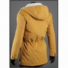 British Style More Pocket Hooded Jacket - Yellow (Size-M)