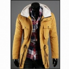 British Style More Pocket Hooded Jacket - Yellow (Size-L)