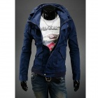 Double Collar Designed Jacket - Navy Blue (Size M)
