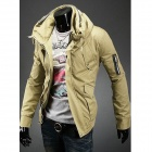 Double Collar Designed Jacket - Earthy (XL)