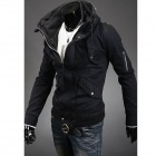 Double Collar Designed Jacket - Black (XL)