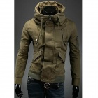 Double Collar Designed Jacket - Army Green (Size L)