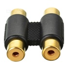 2*RCA Female to 2*RCA Female Adapter - Black