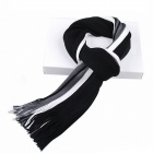 Men's Striped Cashmere Knit Mixed Colors Scarf