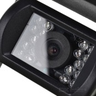 XY-1201 Waterproof CMOS Wide Angle Bus / Truck Rearview Camera w/ 18-LED - Black