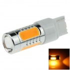 7440 / T20 7.5W 500lm 635nm 5-LED Orange Car Steering Light / Tail Lamp / Signal light - (12~24V)