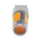 7440 / T20 7,5 W 500lm 635nm 5-LED Oranssi Car Ohjaus valo / takavalo / Merkkivalo - (12 ~ 24V)