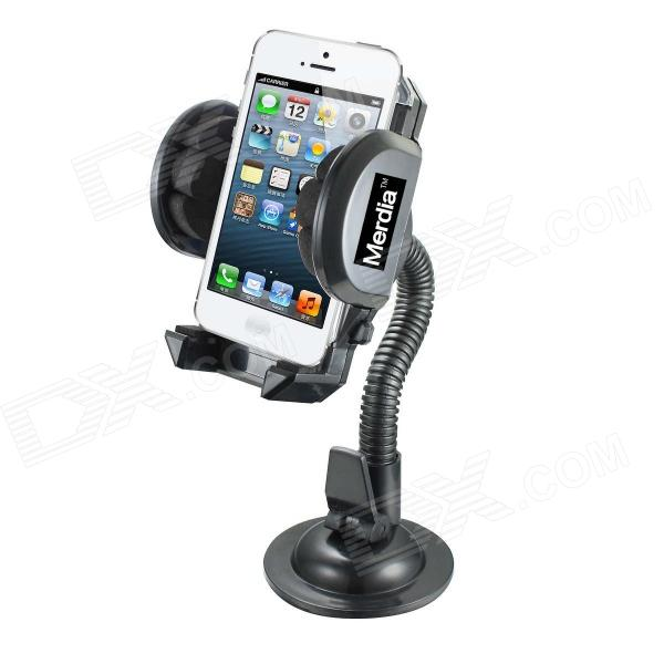 Merdia QPYP04T6 Car Kit Flexible Stand Holder Mount for Iphone / PDA / GPS - Black