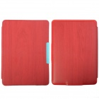 Protective PU Leather Case Cover w/ Auto Sleep for Amazon Kindle Paperwhite - Red