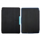 Protective PU Leather Case Cover w/ Auto Sleep for Amazon Kindle Paperwhite - Deep Blue