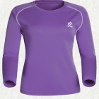 TECTOP Outdoor Women's Quick-Drying Long Sleeve T-Shirt - Purple + White (Size L)