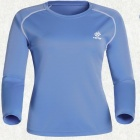 TECTOP Outdoor Women's Quick-Drying Long Sleeve T-Shirt - Light Blue + White (Size L)
