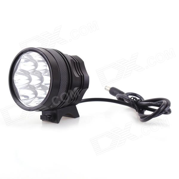 7T6 5000lm 3-Mode Cool White Bicycle Light w/ 7*XM-L T6 (6*18650)Bike Lights<br>Strap/ClipNoForm ColorOthersBrandN/AModel7T6Quantity1 DX.PCM.Model.AttributeModel.UnitMaterialAluminum alloyEmitter BrandCreeLED TypeXM-LEmitter BINT6Number of Emitters7Color BINCold WhiteWorking Voltage   8.4 DX.PCM.Model.AttributeModel.UnitPower Supply6 x 18650 batteries (6600mAh / included)Current2.8 DX.PCM.Model.AttributeModel.UnitTheoretical Lumens5000 DX.PCM.Model.AttributeModel.UnitActual Lumens5000 DX.PCM.Model.AttributeModel.UnitRuntime3 DX.PCM.Model.AttributeModel.UnitNumber of Modes3Mode ArrangementHi,Low,Fast StrobeMode MemoryNoSwitch TypeForward clickyLensGlassReflectorAluminum SmoothFlashlight MountingHandlebarSwitch LocationTailcapBeam Range150 DX.PCM.Model.AttributeModel.UnitOther FeaturesWater resistantPacking List1 x Bicycle front light (70cm-cable)6 x 18650 batteries (40cm-cable)1 x Fixing rubber ring1 x AC power charger adapter (US plug / AC 100~240V / 96cm-cable)<br>