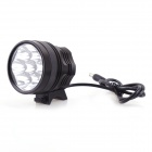 7T6 5000lm 3-Mode Cool White Bicycle Light w/ 7 x Cree XM-L T6 - Black (6 x 18650)